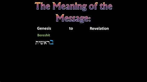 what is the meaning of the word genesis genesis to revelation the meaning of the message