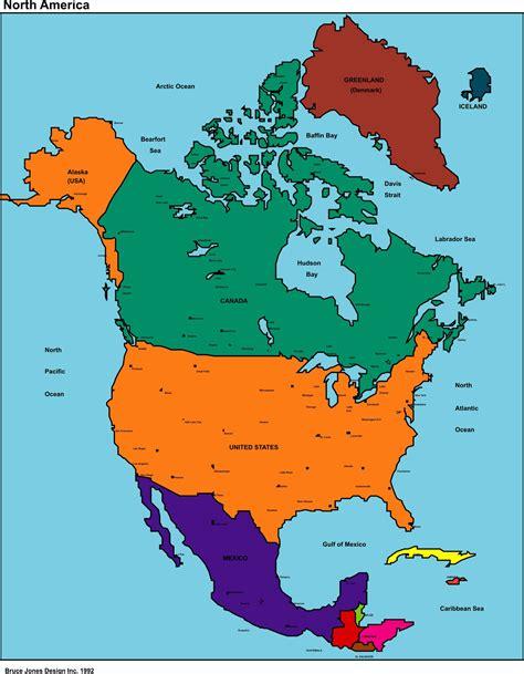mapa america con division politica mapa de america anglosajona