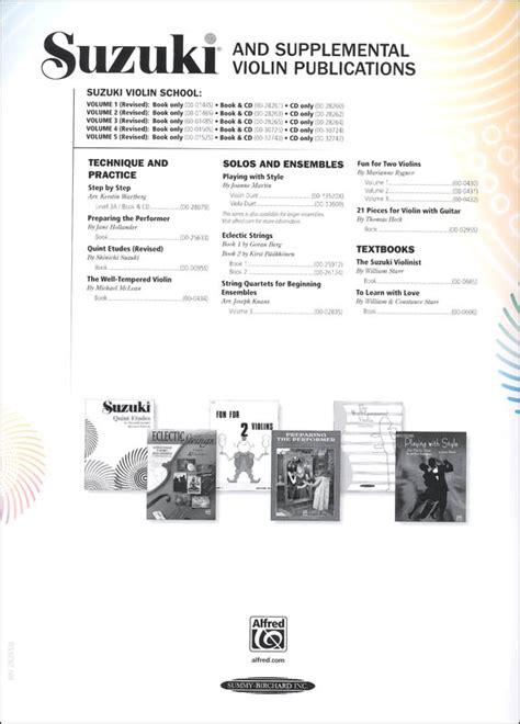 Suzuki Violin Volume 3 Suzuki Violin School Volume 3 Book Cd 060687 Details