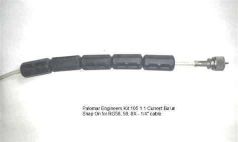 common mode choke antenna coax feed line common mode chokes 1 1 palomar engineers 174