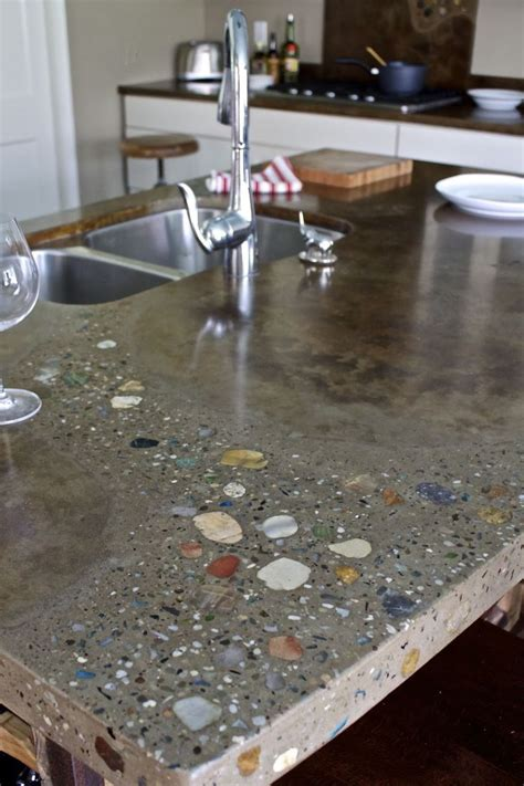 concrete countertops 1000 ideas about polished concrete kitchen on pinterest
