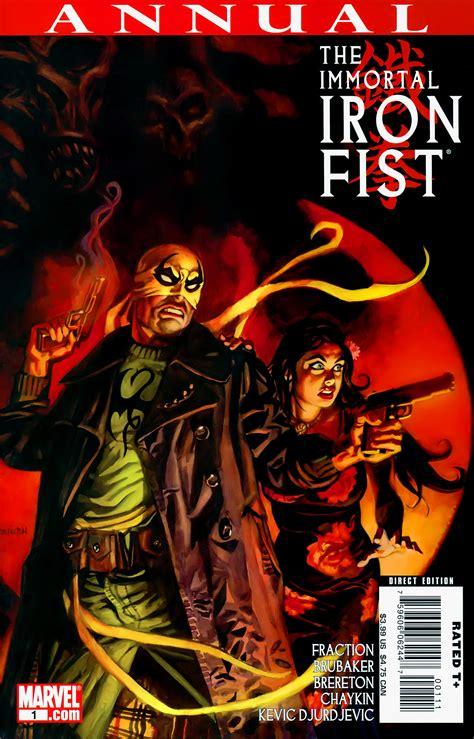 immortal iron fist the 0785188908 immortal iron fist annual vol 1 1 marvel comics database