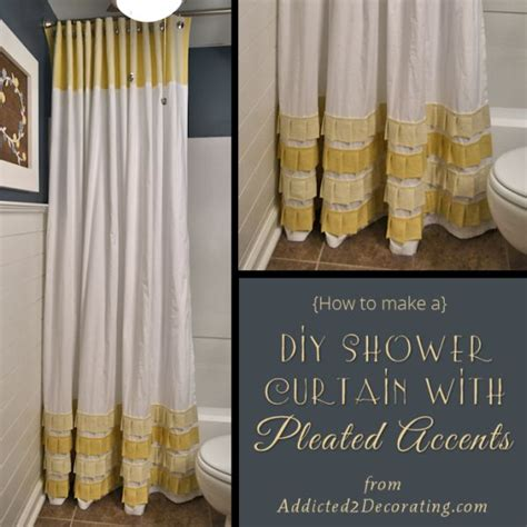 diy bathroom curtain ideas how to change the d 233 cor of your bathroom with a simple diy