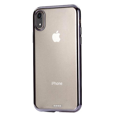 ultra thin electroplating tpu protective for iphone xr black alexnld