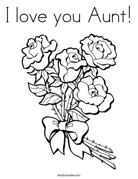 I Love You Aunt Coloring Pages | i love you aunt coloring page twisty noodle