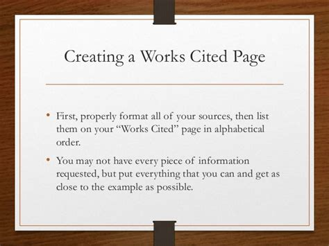 How To Do Works Cited For Research Papers by Research Papers Works Cited Formatting Sources