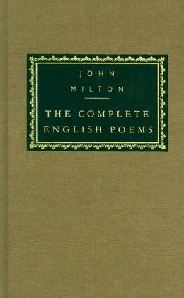 John Milton The Complete English Poems Everyman S