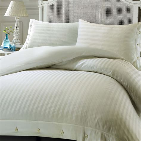 Quality Bedding Sets Uk 100 Luxury Hotel Quality Cotton Satin Stripe Duvet Cover Set Ebay