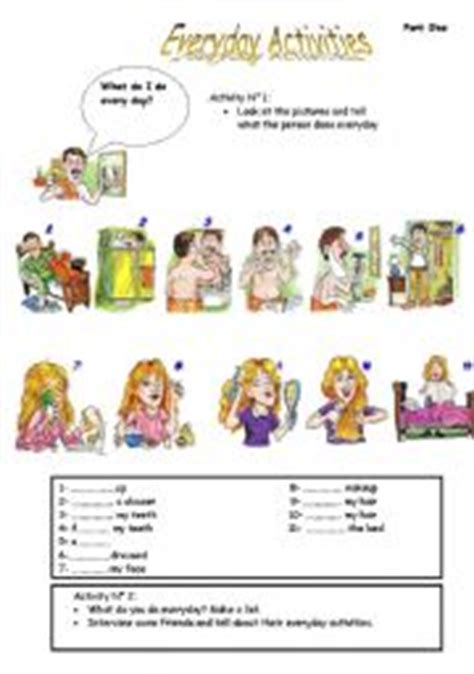 everyday use worksheet everyday activities worksheet by essalhi abdelhak