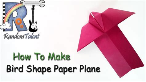 how to make bird shape paper plane my crafts and diy