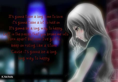 anime lyrics anime girl pink lyrics by kendallee on deviantart