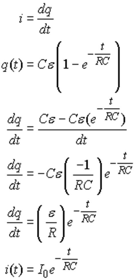derivation of charge on a capacitor capacitor circuits