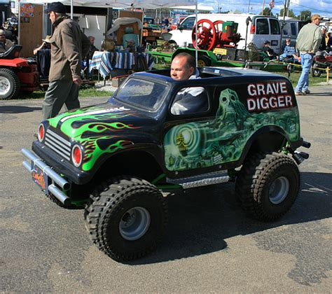 grave digger mini monster truck go kart mini grave digger looking for a row of tonka trucks to