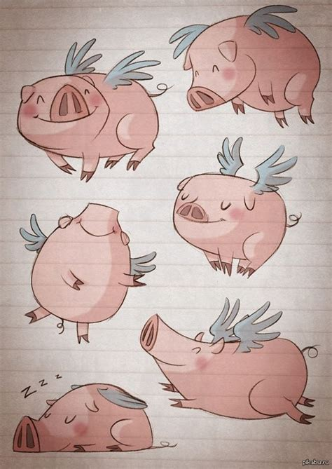 немножко позитива картинки арт свинья милота позитив