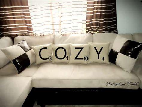 Scrabble Pillows by Board Pillows Scrabble Pillows