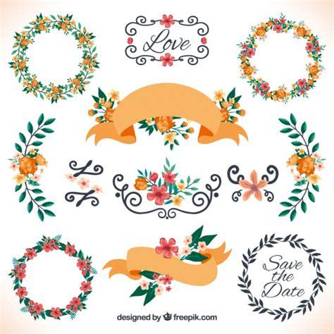 cute wedding decoration vector free download floral decoration for wedding vector free download
