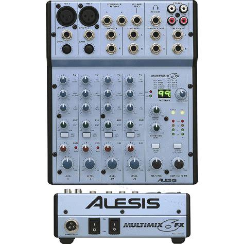 alesis multimix alesis multimix 6fx mixer analogico 6 canali ad