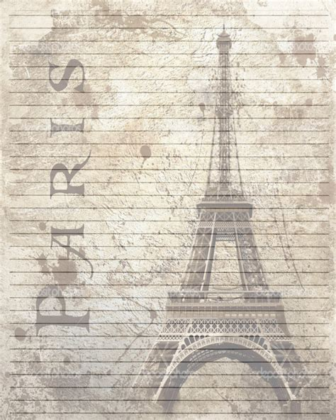 art journal layout paris printable journal page vintage paris lined digital