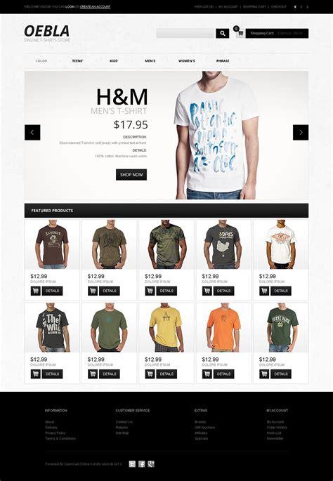 Shirts Website T Shirt Store Opencart Template Web Design