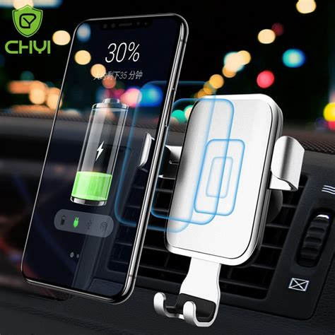 car mount qi wireless charger for iphone xs max x xr 8 fast wireless charging car phone holder