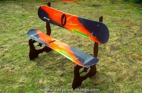 how to build a snowboard bench recycled snowboard ideas recycled things