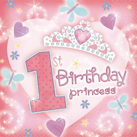 background birthday theme for babies 36 s 33cm pink 1st birthday princess 2ply napkins ebay