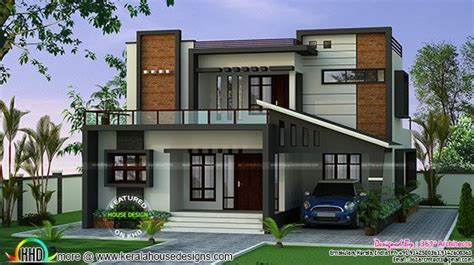 22 5 lakh cost estimated modern house kerala home design 35 lakh cost estimated contemporary home kerala home