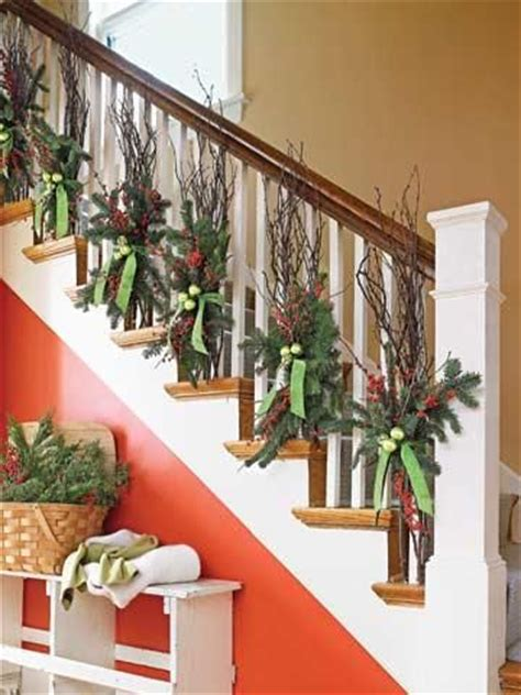 Banister Decor by Nature Inspired Decorations Fruit Staircases And Evergreen