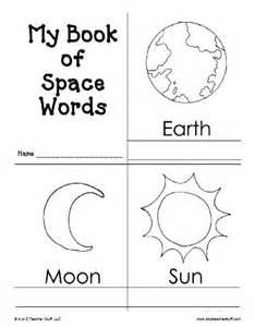 my book of space words printable book free printable