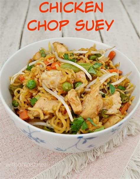 chicken chop suey with a blast