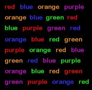 color difference test stroop effect stroop test