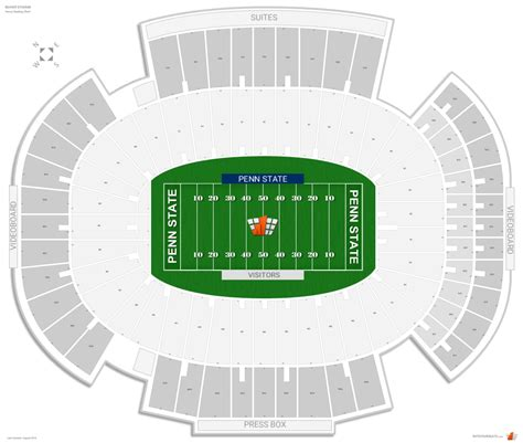 what is section number in college beaver stadium penn state seating guide rateyourseats com