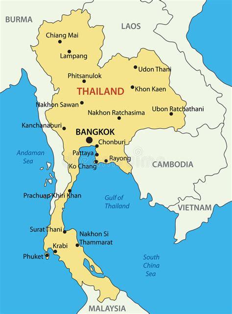vector map thailand kingdom of thailand vector map stock vector