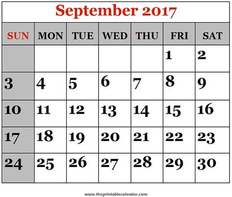 printable calendar september october november 2017 september 2017 printable calendars