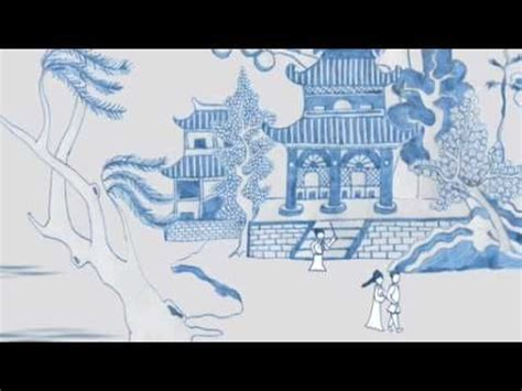 willow pattern story activities willow pattern plate youtube video 1 min animated blue