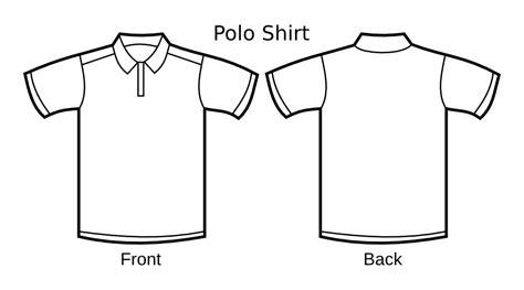 Onlinelabels Clip Art Polo Shirt Template Polo Shirt Template
