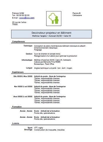 Modele De Cv Gratuit 2015 by Exemple De Cv 2015 Pdf