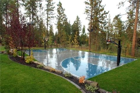 backyard pool and basketball court landscaping around a basketball court backyard pinterest