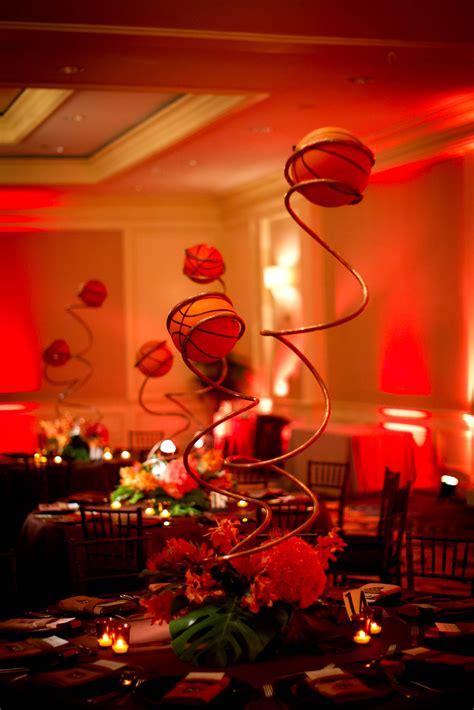 basketball banquet centerpieces basketball bar mitzvah