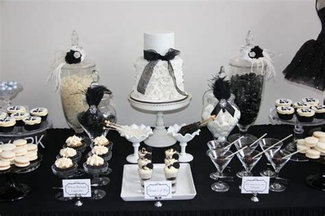 black and white themed decorations a black white affair themed xv quinceanera