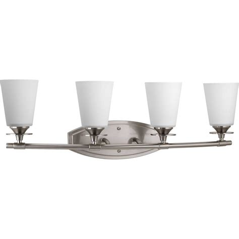 progress lighting calven collection 4 light brushed nickel bath light p3236 09wb the home depot progress lighting cantata collection 4 light brushed nickel bath light p3249 09 the home depot