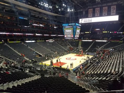 arena section middle level end philips arena basketball seating