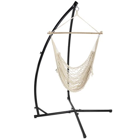 Sunnydaze durable x stand and hanging hammock chair set or x stand only you ch
