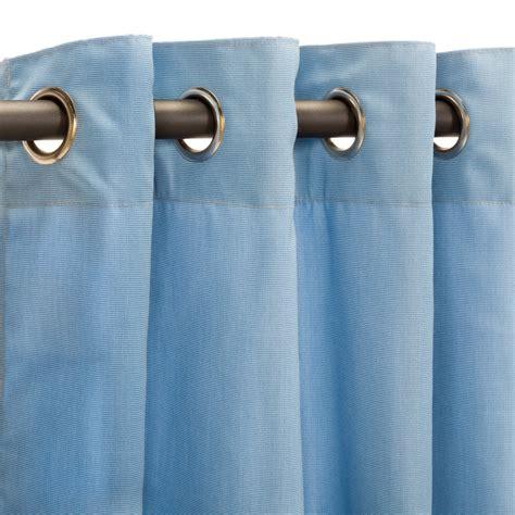 canvas curtains with grommets canvas air blue grommet sunbrella outdoor curtains