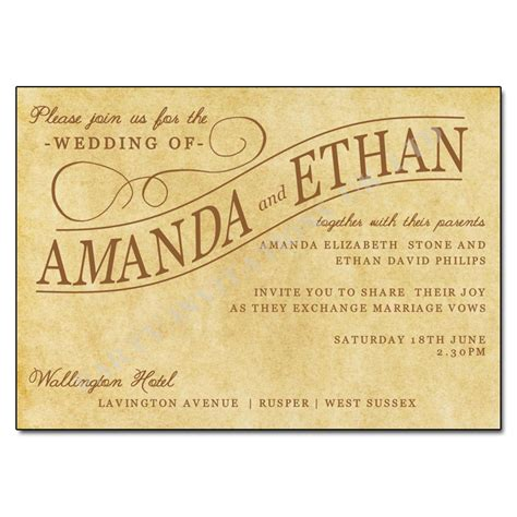 day wedding invites vintage paper wedding invitations uk