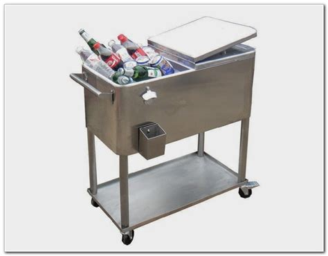 patio ice cooler on wheels patios home design ideas