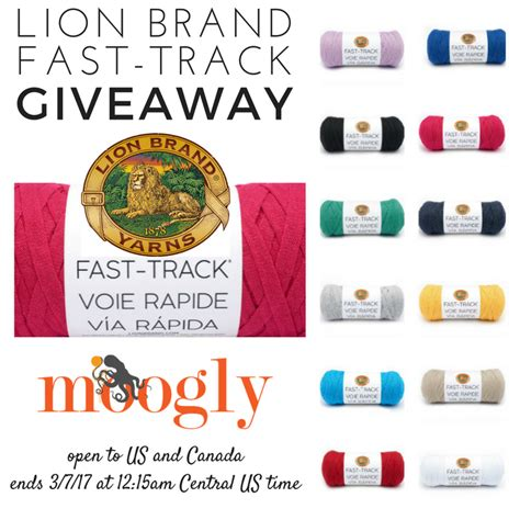 Track Giveaways - lion brand fast track giveaway on moogly moogly