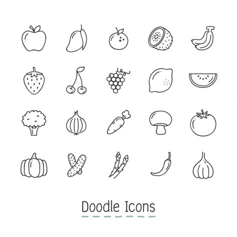 free vector doodle icons mango icon vectors photos and psd files free