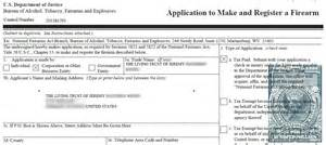 nfa for beginners form 1 to manufacture an nfa item the