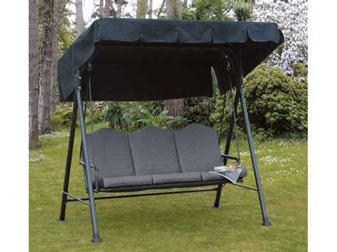 3 seater swing chair garden seat swing 3 seater patio cushioned chair steel